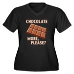 Chocolate - More Please? Women's Plus Size V-Neck