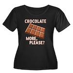 Chocolate - More Please? Women's Plus Size Scoop N
