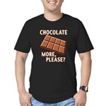 Chocolate - More Please? Men's Fitted T-Shirt (dar