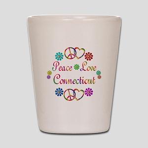 Peace Love Connecticut Shot Glass