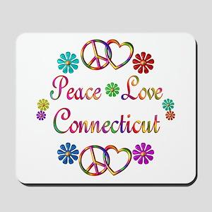 Peace Love Connecticut Mousepad