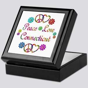 Peace Love Connecticut Keepsake Box