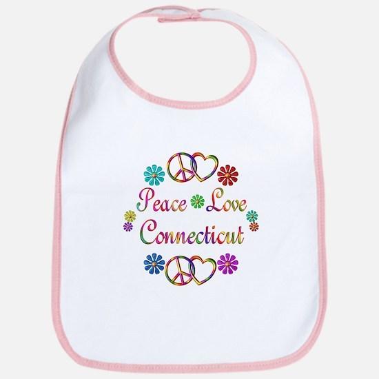 Peace Love Connecticut Bib