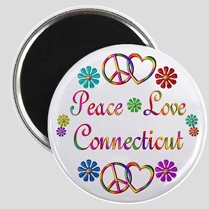 Peace Love Connecticut Magnet