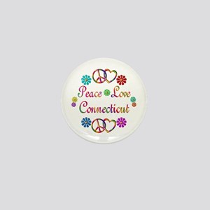 Peace Love Connecticut Mini Button