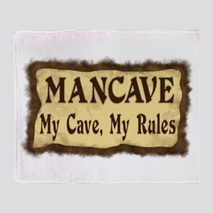 I Rule My Cave Throw Blanket