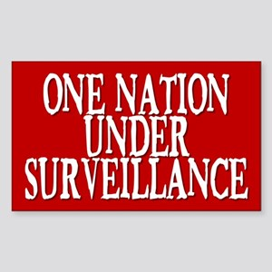 under surveillance... Rectangle Sticker