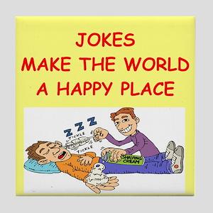 jokes Tile Coaster
