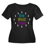 Key West Time Women's Plus Size Scoop Neck Dark T-