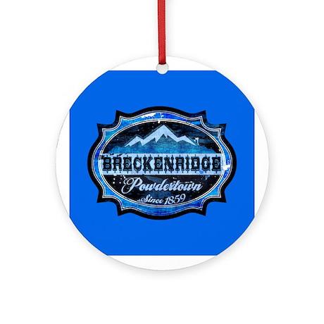 Breckenridge Powdertown Ice Ornament (Round)