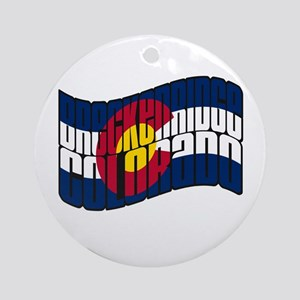 Breckenridge Colorado Flag Ornament (Round)
