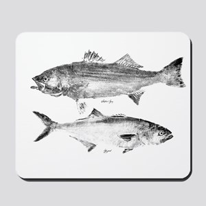 Striper Bass and Bluefish Mousepad