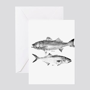 Striper Bass and Bluefish Greeting Card