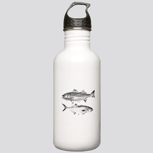 Striper Bass and Bluefish Stainless Water Bottle 1