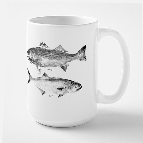 Striper Bass and Bluefish Large Mug