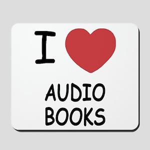 I heart audio books Mousepad