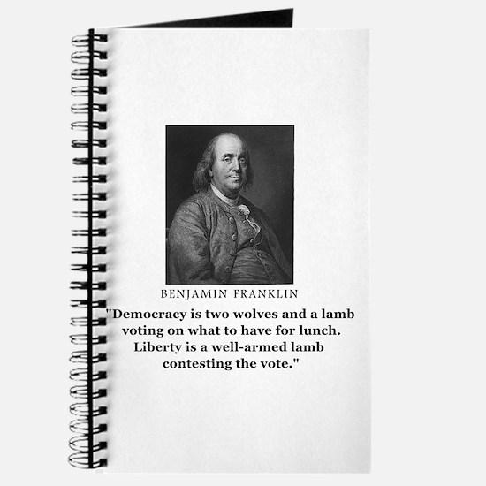 Ben Franklin Contest the Vote Quote Journal