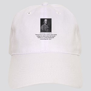 Ben Franklin Contest the Vote Quote Cap