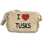 I heart tusks Messenger Bag