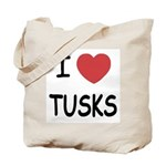 I heart tusks Tote Bag