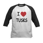 I heart tusks Kids Baseball Jersey