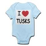 I heart tusks Infant Bodysuit