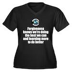 Forgiveness Women's Plus Size V-Neck Dark T-Shirt