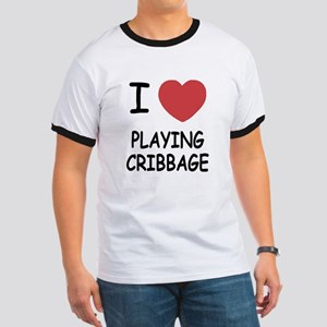 I heart playing cribbage Ringer T