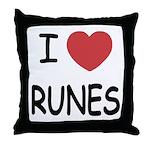 I heart runes Throw Pillow
