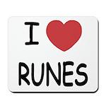 I heart runes Mousepad