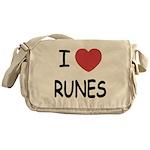 I heart runes Messenger Bag