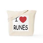 I heart runes Tote Bag