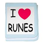 I heart runes baby blanket