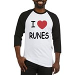I heart runes Baseball Jersey