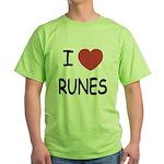 I heart runes Green T-Shirt