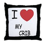 I heart my crib Throw Pillow