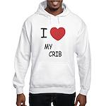 I heart my crib Hooded Sweatshirt
