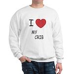 I heart my crib Sweatshirt