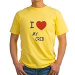 I heart my crib Yellow T-Shirt
