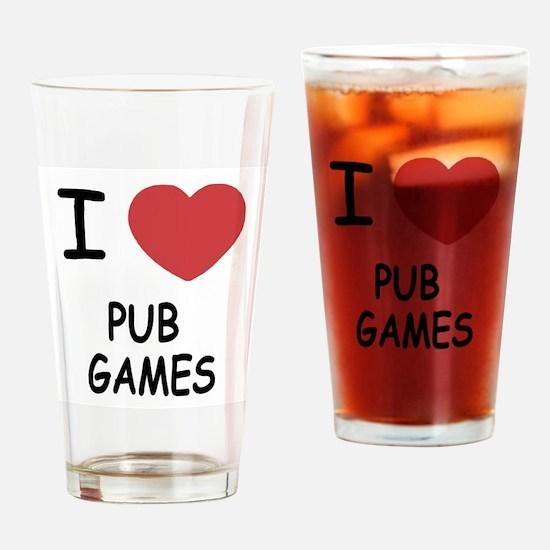 I heart pub games Drinking Glass