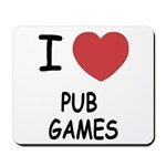 I heart pub games Mousepad