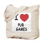 I heart pub games Tote Bag