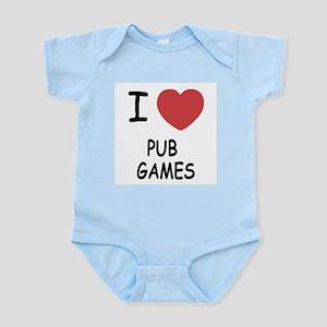 I heart pub games Infant Bodysuit