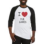 I heart pub games Baseball Jersey