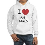 I heart pub games Hooded Sweatshirt