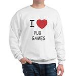 I heart pub games Sweatshirt