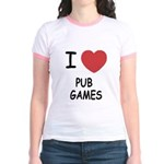I heart pub games Jr. Ringer T-Shirt