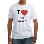 I heart pub games Fitted T-Shirt