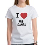 I heart pub games Women's T-Shirt