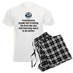 Forgiveness Knows Men's Light Pajamas